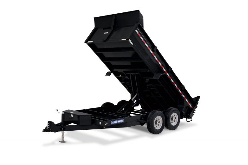 2020 Sure-Trac 82x16 16K HD Low Profile Dump (Scissor Hoist) Dump Trailer