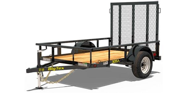 2021 Big Tex Trailers 30SA 5 X 8 Utility Trailer