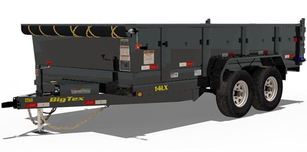 2020 Big Tex Trailers 14LX 83 X 14 with 4' Sides Dump Trailer