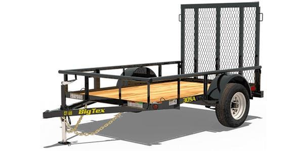 2020 Big Tex Trailers 30SA 5 X 8 Utility Trailer