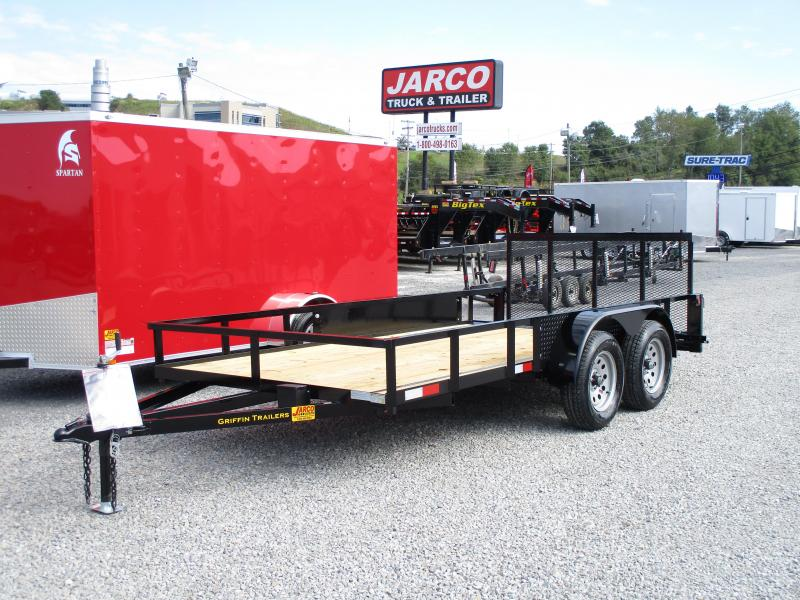 2019 Griffin 76 X 10+2 Tandem Axle Utility Trailer