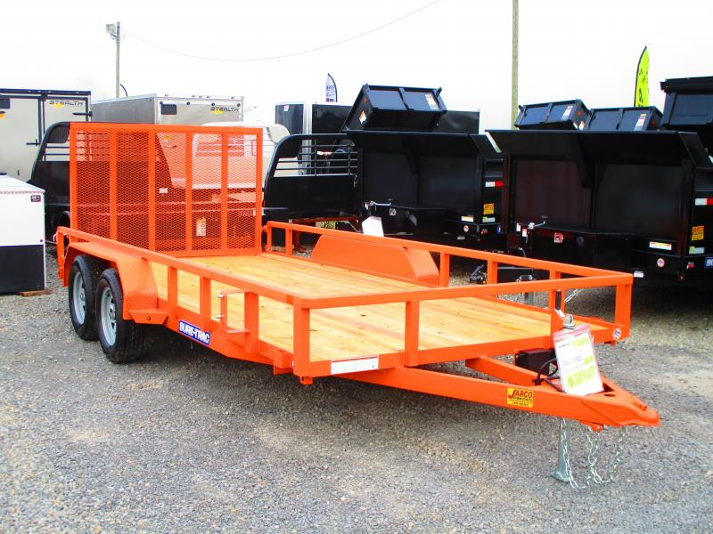 2020 Sure-Trac 7 X 16 TA Tube Top Utility Trailer