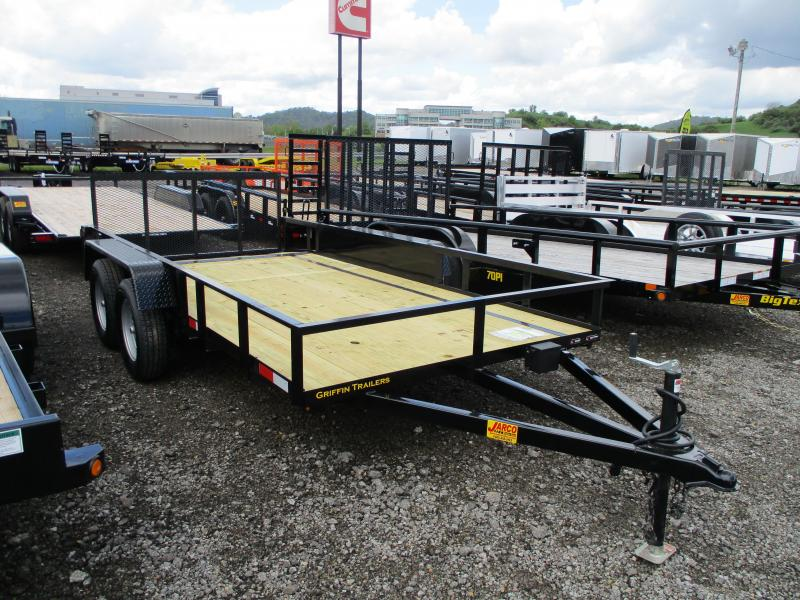 2020 Griffin 76 X 14 Tandem Axle Utility Trailer