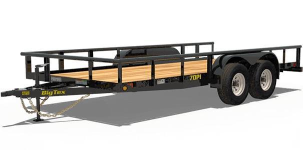 2020 Big Tex Trailers 70PI 83'' X 18 Utility Trailer