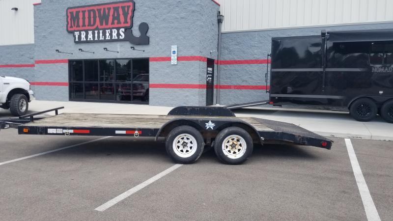 2003 Us Cargo 7x18 Wood Deck Car Hauler