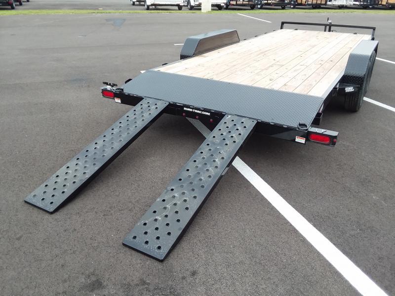 2020 Sure-trac 7' X 20' Wood Deck 7k