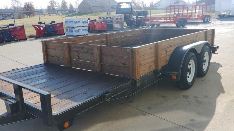 2012 Bluegrass Trailers 7x18 Wood Deck Ch 7k