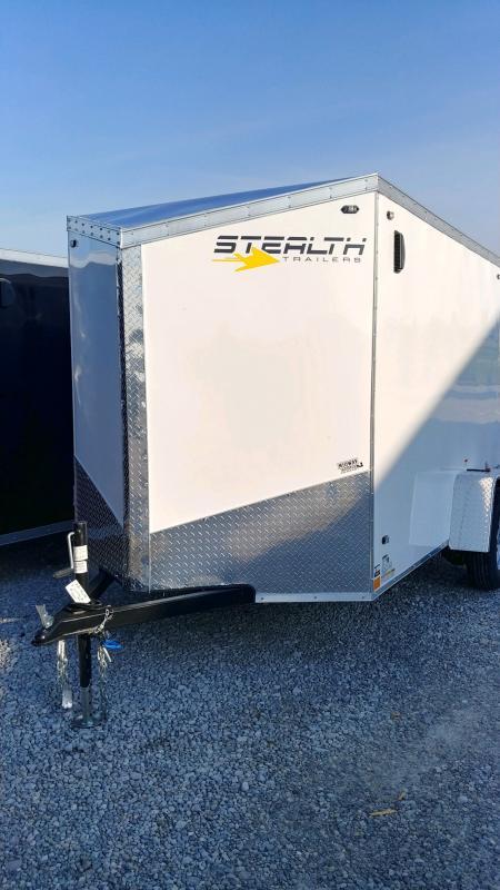 2020 Stealth 6x12 Titan 3k White Barn Door