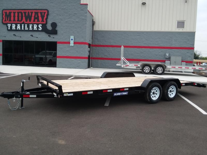 2020 Sure-trac 7' X 20' Wood Deck Ch 7k