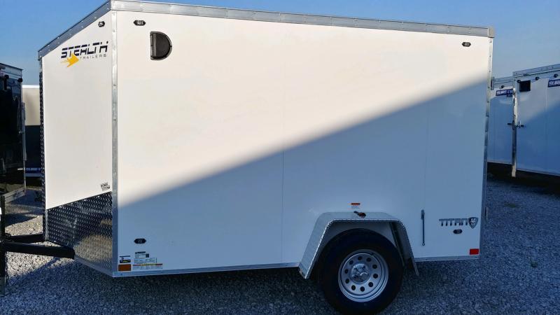2020 Stealth 6x10 Titan 3k White Barn Doors