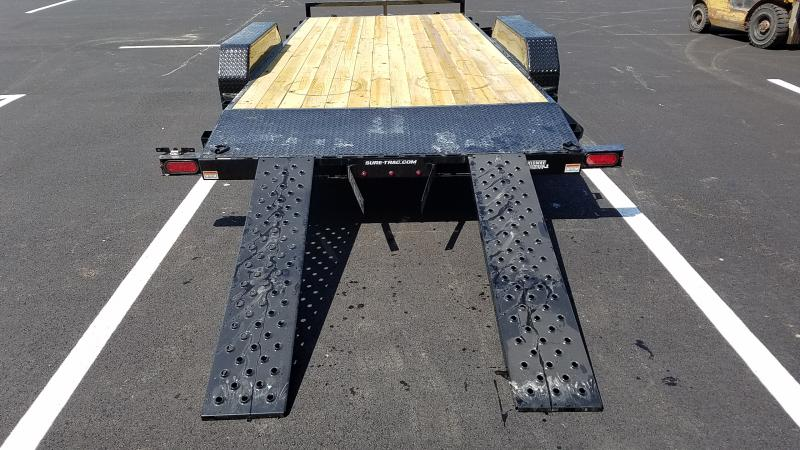 2020 Sure-trac 7' X 18' Wood Deck Ch 7k