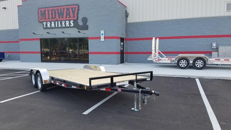 2020 Pj Trailers 7' X 18' Wood Deck 7k