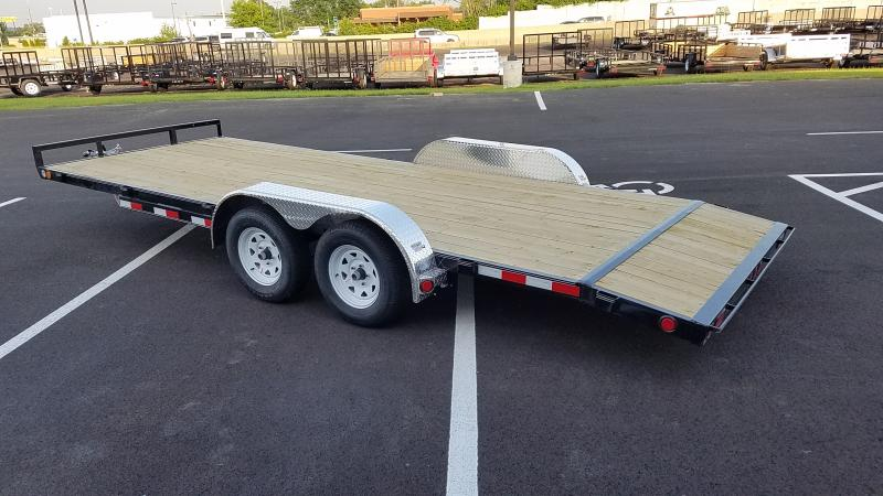 2020 Pj Trailers 7' X 18' Wood Deck 7k
