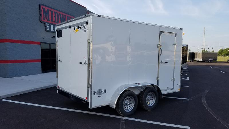 2020 Stealth 7'x12' 7k Mustang White