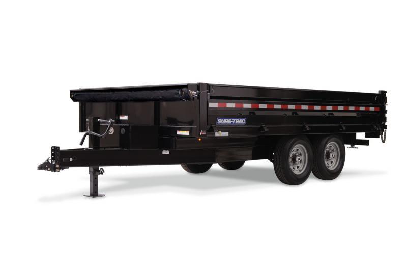 2020 Sure-trac 8'x14 Deckover Scissor Dump 14k