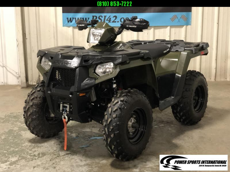 2017 POLARIS SPORTSMAN 570 EPS EFI 4X4 ATV HUNTER GREEN #5431