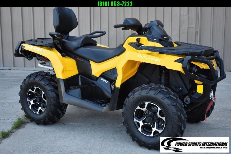 2016 CAN-AM OUTLANDER MAX 570 XT 2-Passenger 4X4 ATV w/ Extras  #0190