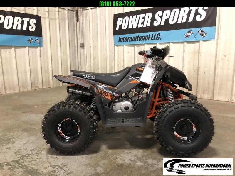2020 TRAILHAWK 10 YOUTH ATV 4-Stroke Automatic Four Wheeler BLACK AND ORANGE #1705
