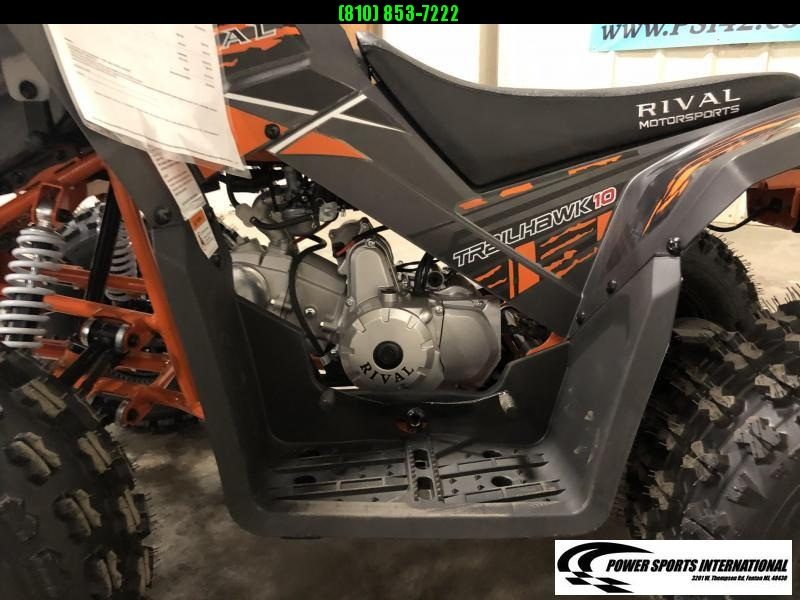 2020 TRAILHAWK 10 YOUTH ATV 4-Stroke Automatic Four Wheeler BLACK AND ORANGE #1705