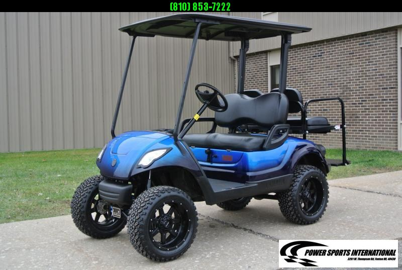 2016 CUSTOM Metallic Blue Yamaha Drive GAS POWERED Golf Cart #1492