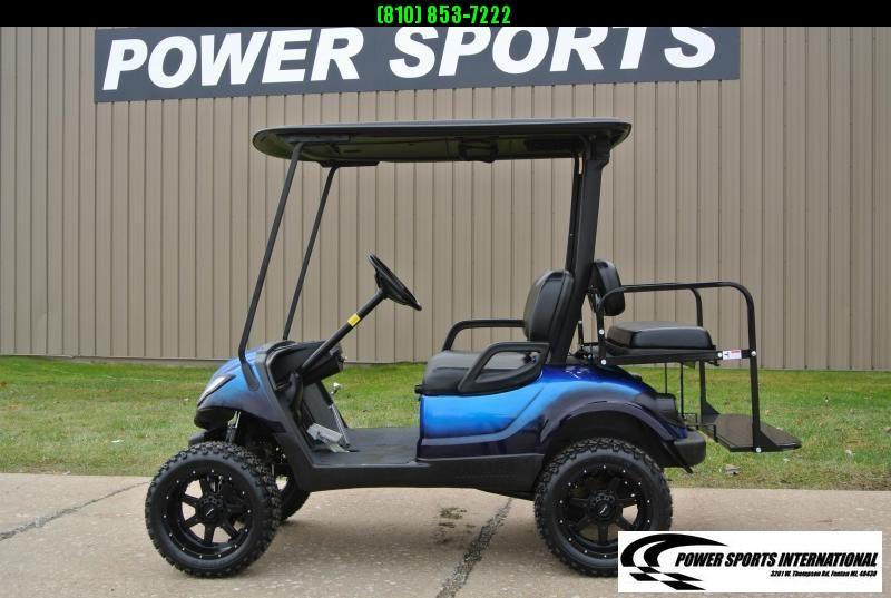 2016 CUSTOM Metallic Blue Yamaha Drive GAS POWERED Golf Cart #1492