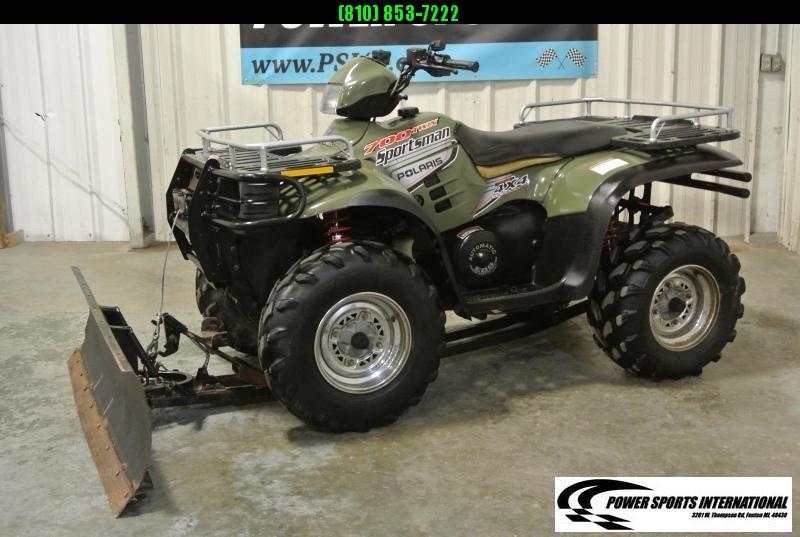 2003 POLARIS SPORTSMAN 700 HO 4X4 ATV.  w/ Snowplow Ready to Work!  #3050