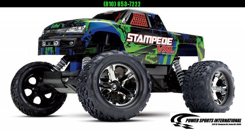 TRAXXAS STAMPEDE VXL RTR GREEN Model #36076-4 #TRX00014