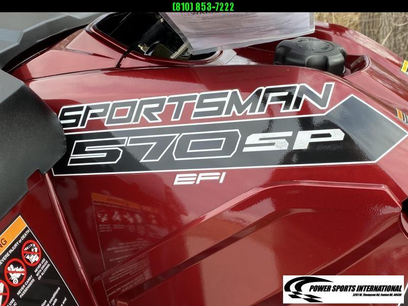 2019 POLARIS SPORTSMAN 570 SP EPS EFI 4X4 ATV MAROON w/ EXTRAS #5038