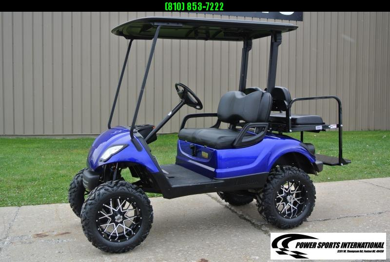 2016 CUSTOM METALLIC BLUE Yamaha Drive GAS POWERED Golf Cart #1523