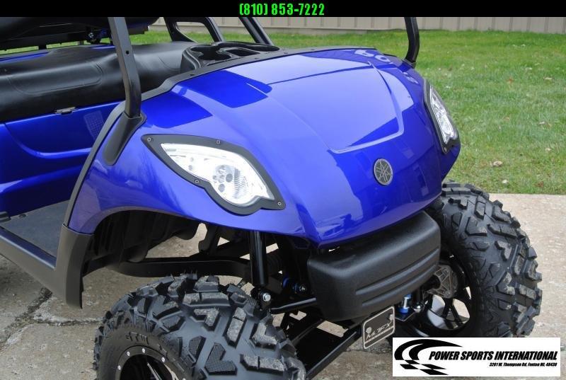 2016 CUSTOM METALLIC BLUE Yamaha Drive GAS POWERED Golf Cart #1523