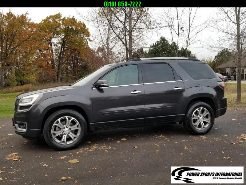 2015 GMC Acadia SLT AWD SUV Black with Leather Interior
