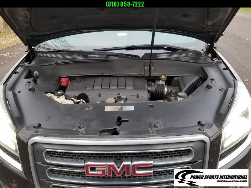 2015 GMC Acadia SLT AWD SUV Black with Leather Interior