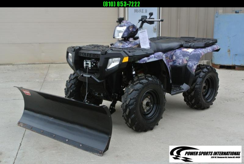 2008 POLARIS SPORTSMAN 500 HO 4X4 ATV W/ WARN SNOWPLOW #6147