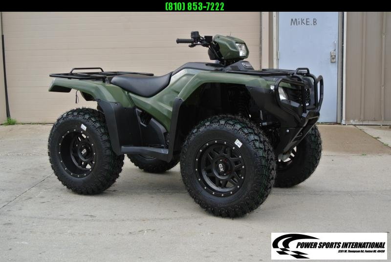 2018 HONDA TRX500FM1 FOURTRAX FOREMAN (4X4) GREEN MANUAL SHIFT #1002