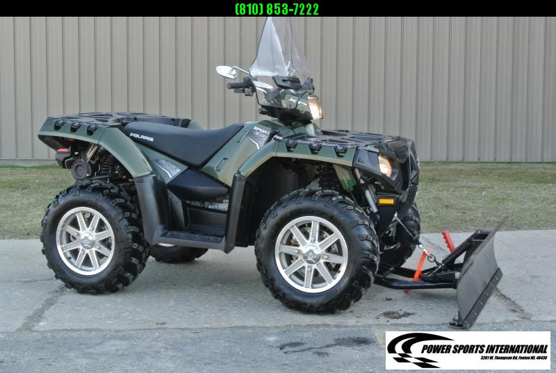 2011 POLARIS SPORTSMAN 850 EPS 4X4 ATV HUNTER GREEN w/ SNOWPLOW #6167