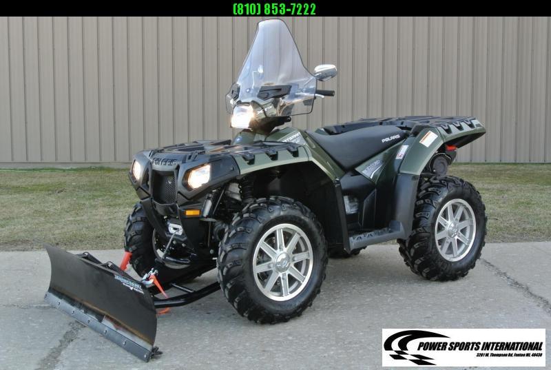 2011 POLARIS SPORTSMAN 850 EPS 4X4 ATV HUNTER GREEN w/ SNOWPLOW #6167