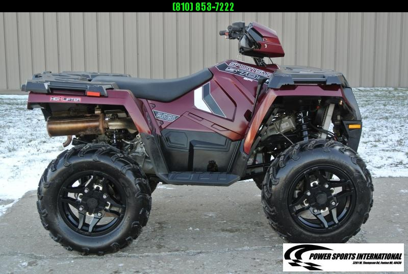2019 POLARIS SPORTSMAN 570 SP EFI 4X4 ATV MAROON #0302