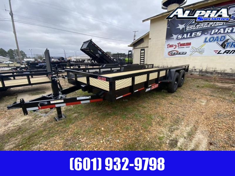 2020 Caliber Trailer Mfg 7' x 20' Equipment Trailer 14K GVWR