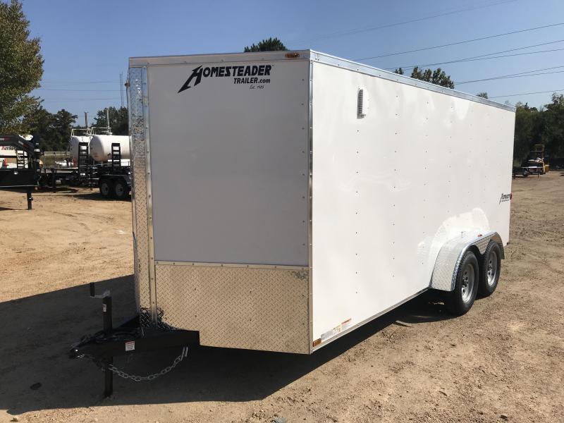 New 2019 7 x 16 Tandem Axle Enclosed Cargo Trailer 7K GVWR