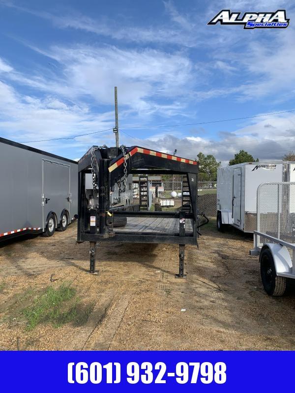 """Used 2017 CM 83"""" x 25' UTL Gooseneck Equipment Trailer 24K GVWR"""
