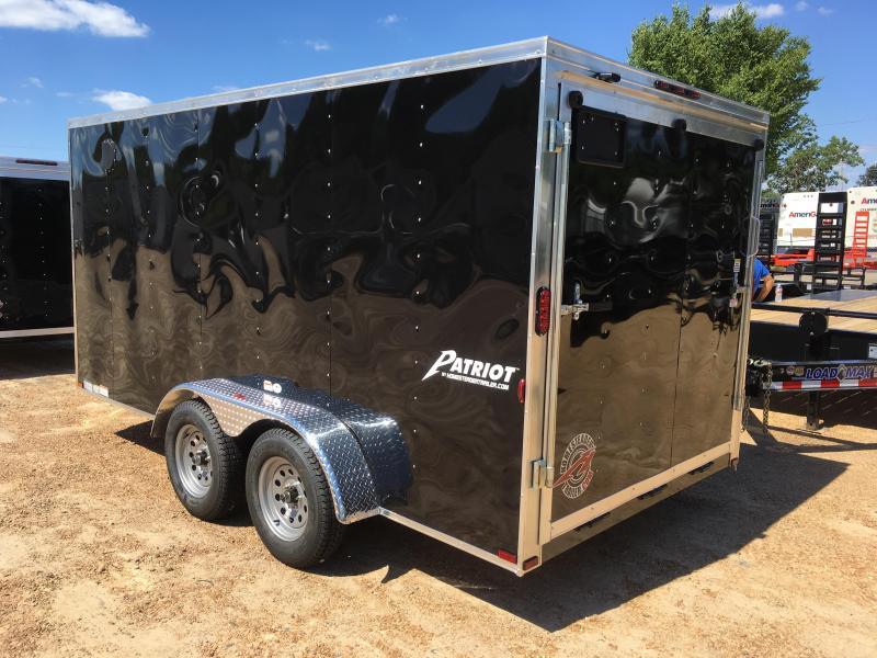 New 2019 7 x 14 Tandem Axle Enclosed Cargo Trailer 7K GVWR