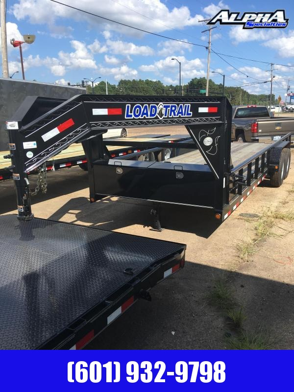 2019 Load Trail 83 x 22 TANDEM Gooseneck Flatbed Trailer w/ Side Rails 14K GVWR