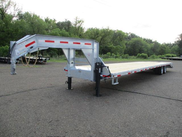 CLEARANCE 2019 Galvanized 40' Flatdeck with Duals Flatbed Trailer