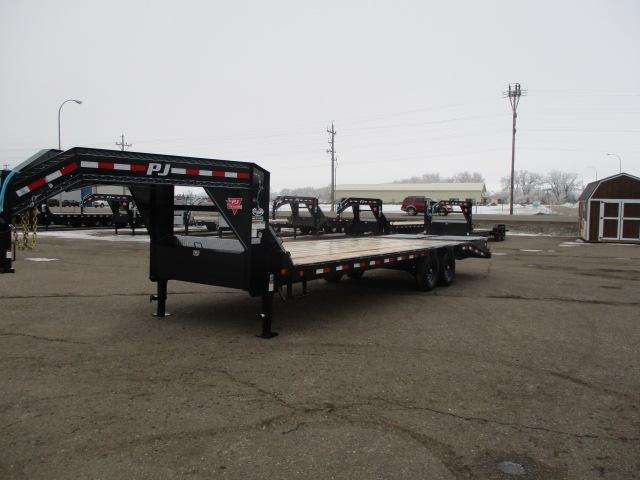 2020 PJ Trailers 26' Low-Pro Flatdeck with Singles Trailer