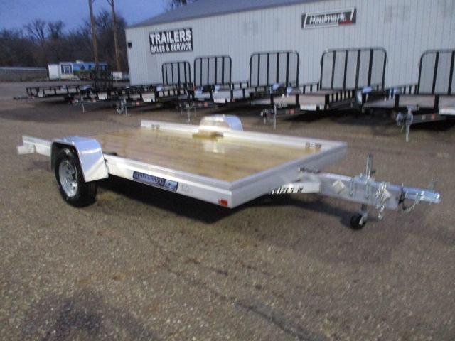 2020 Aluma 7812 Edge Series Wood Deck Tilt Utility Trailer