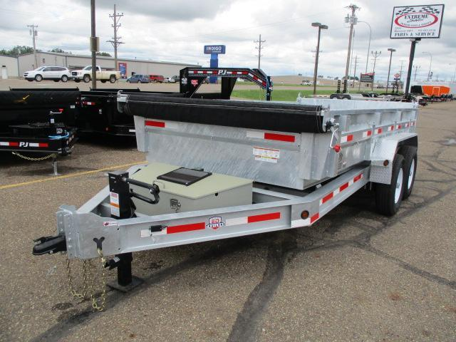 "CLEARANCE 2019 Galvanized 14' x 83"" Dump Trailer"