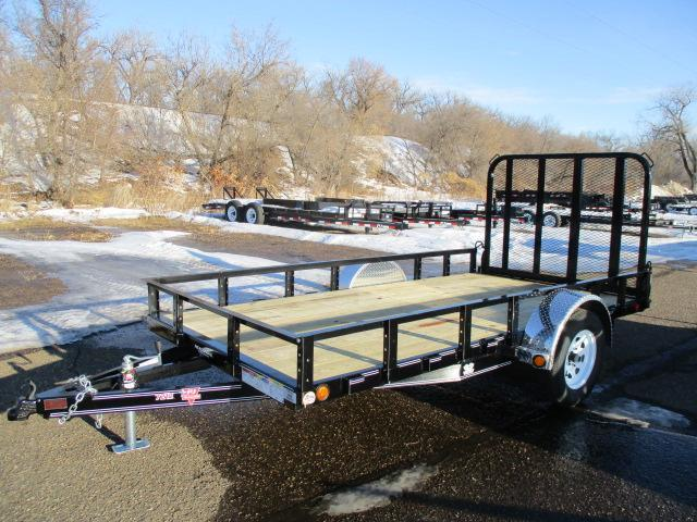 "2020 PJ Trailers 12'x72"" Single Axle Channel Utility Trailer"