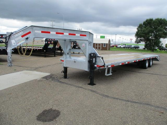 2019 Galvanized 32' Flatdeck with Duals Flatbed Trailer