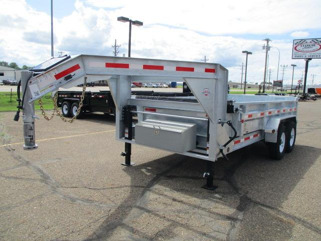 "2019 Galvanized 14' x 83"" Dump Trailer"