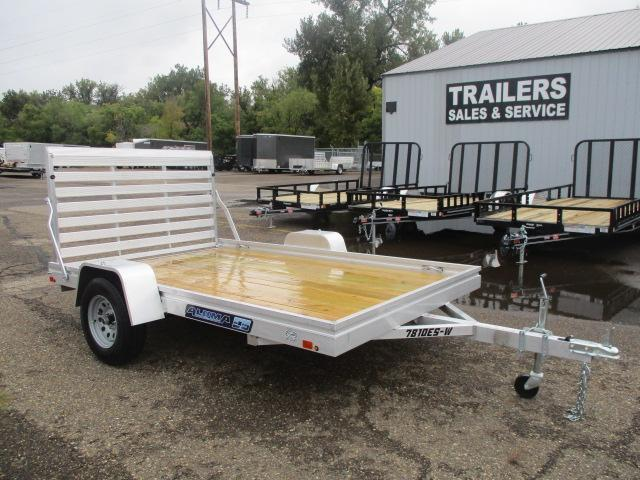 2020 Aluma 7810 Edge Series Wood Deck Utility Trailer